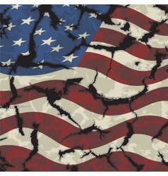 American grunge flag grunge effect can be cleaned vector