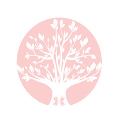 Abstract pink art tree closeup vector