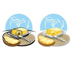 Butter and sandwich vector