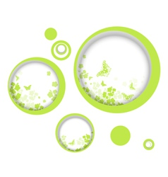 Spring or summer vitality abstract frames vector