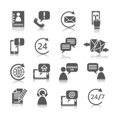 Contact us service icons vector