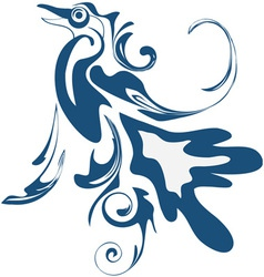 Abstract blue bird vector