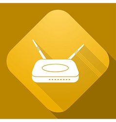Icon of router with a long shadow vector
