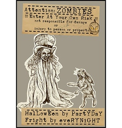 Halloween placard - hand drawings vector