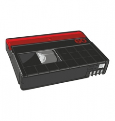Mini dv cassette vector
