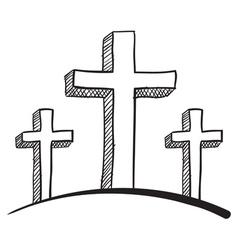 Religious sketch vector