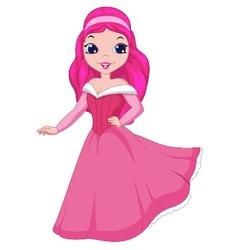 Beautiful princess cartoon vector