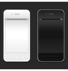 White and black smartphone realistic mockup model vector