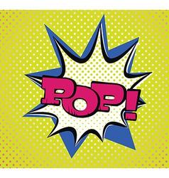 Pop art style typography vector