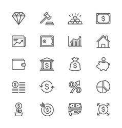 Business and investment thin icons vector