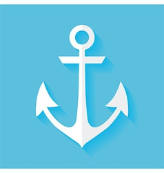 Flat marine anchor vector