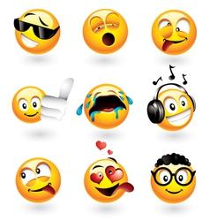 Emoticons set vector