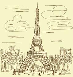 Vintage eifel tower vector