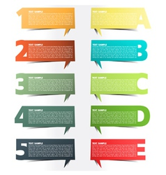 Colorful presentations with letters and numbers vector
