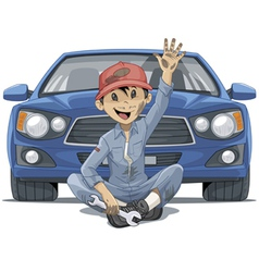 Mechanic greeting vector