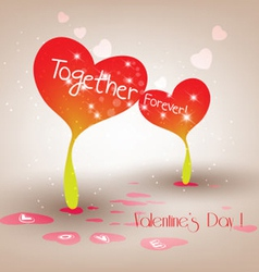 Valentine sprouts hearts vector