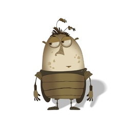 Funny big bug cartoon vector