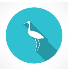 Heron icon vector