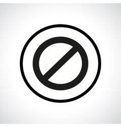 Prohibition symbol vector