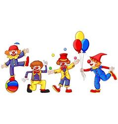 Colourful clowns vector