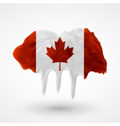 Flag of canada painted colors vector