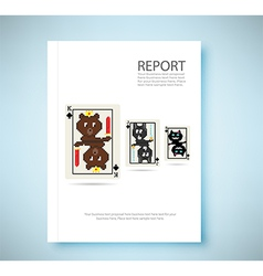 Report bear king 8 bit playing card isolated vector