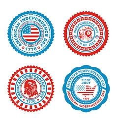 Independence day stamp vector