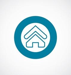 Home icon bold blue circle border vector