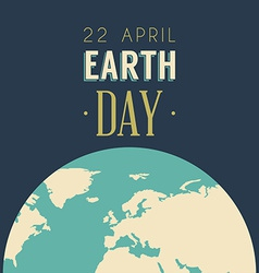 Vintage earth day celebrating card or poster vector