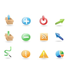 Web application 3d icon set vector