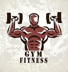 Bodybuilder athlete exercising symbol vector