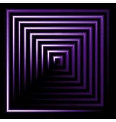 Purple neon square background vector