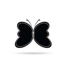 Butterfly black and white silhouette vector