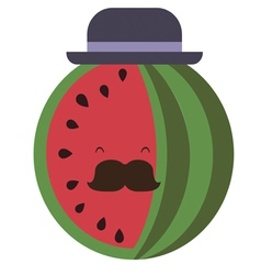 Senior water-melon vector