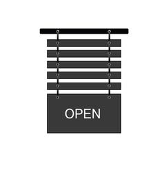 Open signboard vector
