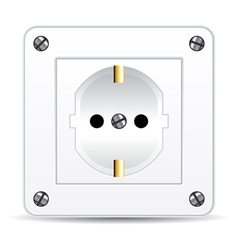 European electric plug vector
