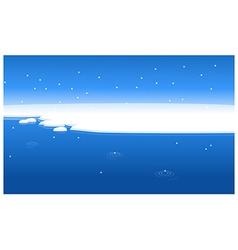 Snow water landscape vector