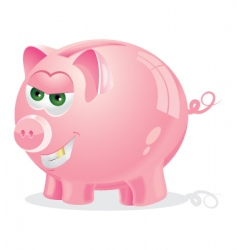 Evil piggy bank vector