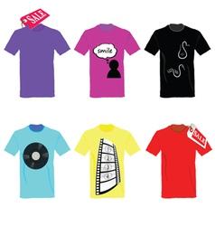 T-shirt set on sale color vector