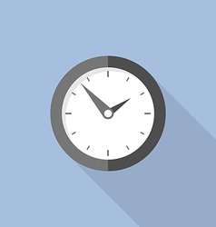 Clock flat icon world time concept internet vector