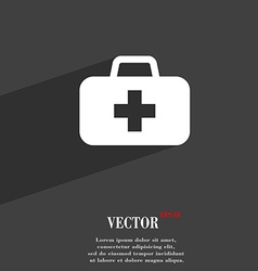 Medicine chest icon symbol flat modern web design vector