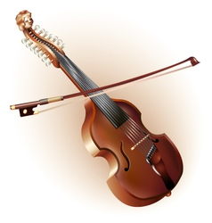 Classical viola d amore isolated on white vector