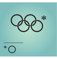Olympic rings sochi russia 2014 vector
