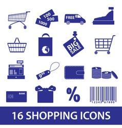 Shopping icons set eps10 vector