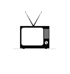 Retro tv icon vector
