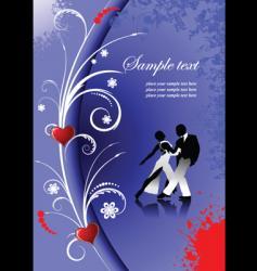 Valentines day tango vector