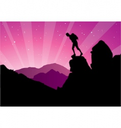 Climber silhouette vector