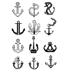 Ship anchors set vector