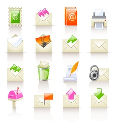 Mail service icons vector