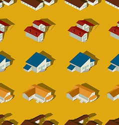Suburban seamless pattern vector